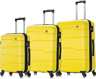 Luggage Set Yellow - Rodez Collection - Lightweight Hardside 3 piece set 20''/24''/28''