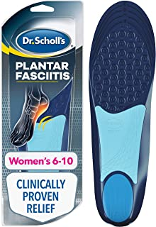 Dr. Scholl's Pain Relief Orthotics for Plantar Fasciitis for Women, 1 Pair, Size 6-10