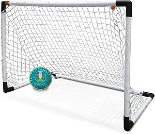 Mondo Toys-UEFA - Mini portería de fútbol para niños con Red balón Euro 2020 incluido-28581, Color Blanco, 28581