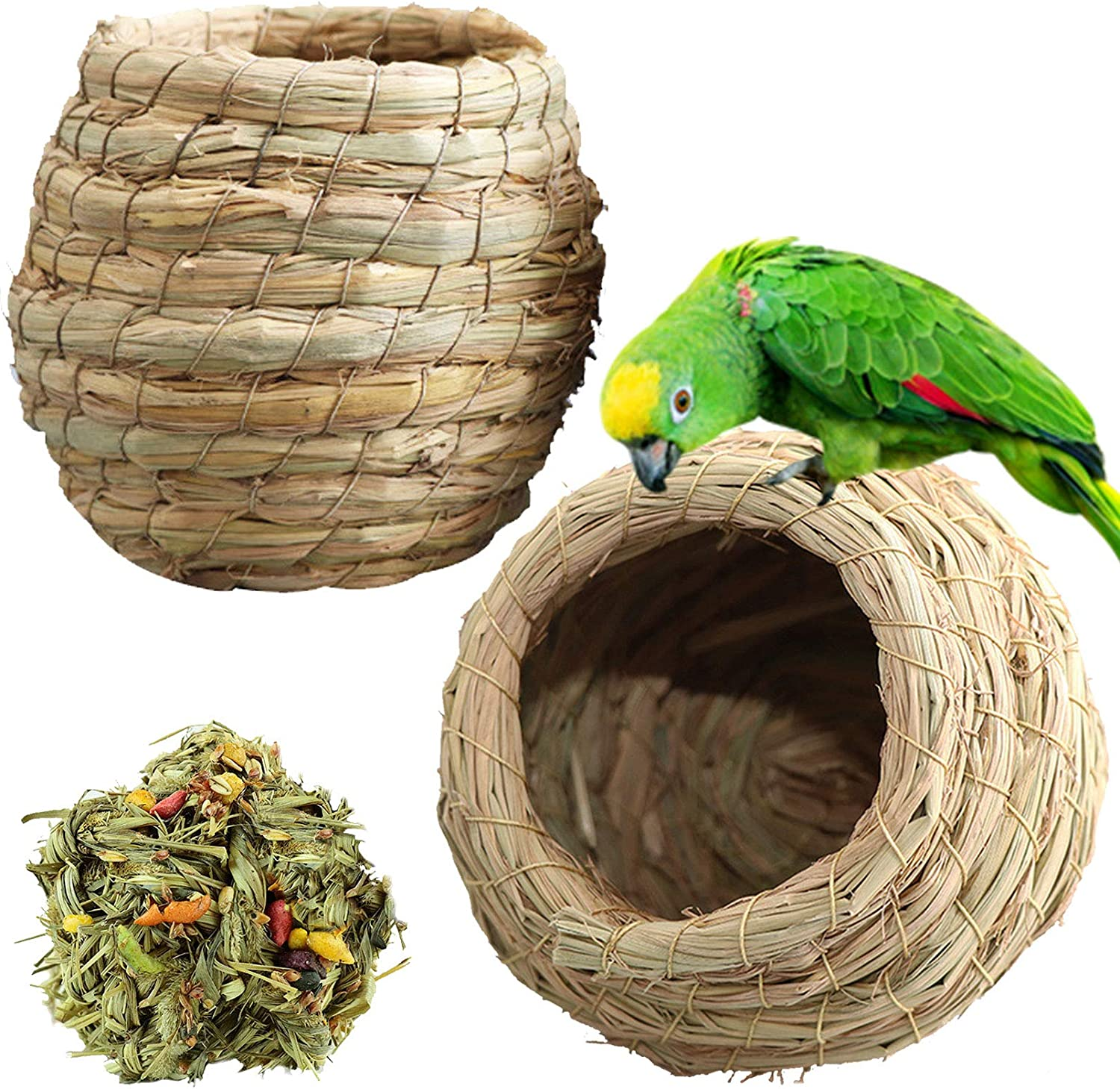 kathson Birdcages Straw Bird Birdho Nests GrassWoven Natural Cheap mail order shopping 5 ☆ very popular