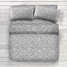 Alpine Patchwork Parure de lit en Flanelle Thermique 100/% Coton avec Housse de Couette en Flanelle Rouge//Multicolore 200 x 200 x 0,5 cm