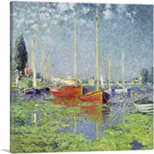 ARTCANVAS Yachts - Red Boats at Argenteuil 1875 Canvas Art Print by Claude Monet - 12