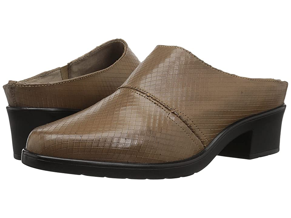 Walking Cradles Caden (Sage Laser Snake Leather) Women's Clog Shoes, Tan