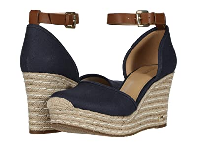 MICHAEL Michael Kors Kendrick Wedge (Navy) Women