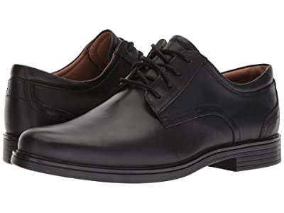 Clarks Un Aldric Lace (Black Leather) Men