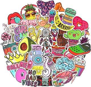 Waterproof Vinyl Aesthetic Stickers for Water Bottle Laptop Room Decor (50Pcs VSCO Girl Style)