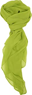 Modern, Chiffon Silk Blend Solid Color Oblong Scarf