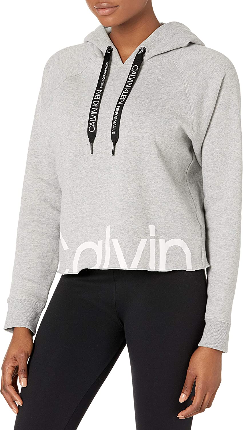 Calvin Klein Women's Long Department store Clearance SALE Limited time Sleeve Up Sweatshirt Hooded Zip