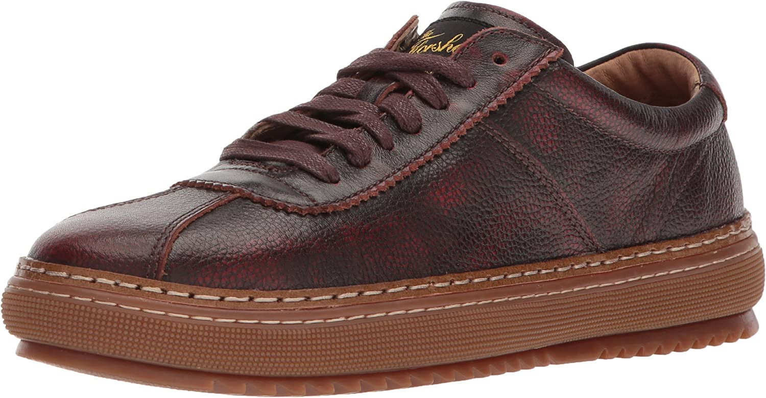 Florsheim Men's Crew Low Lace Up Sneaker, Burgundy, 9 M US