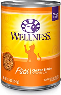 Wellness Complete Health Natural Grain Free Wet Canned Cat Food Pate Recipe Chicken Pate