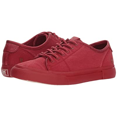 Frye Gia Canvas Low Lace (Red Canvas/Smooth Full Grain/Nubuck) Women