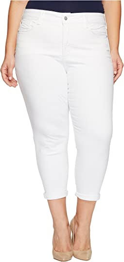 Plus Size Alina Convertible Ankle in Optic White