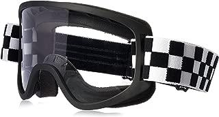 Biltwell (M2CHKBKWT) Script Checkers Moto 2.0 Goggles (Black/White, One Size Fits Most)