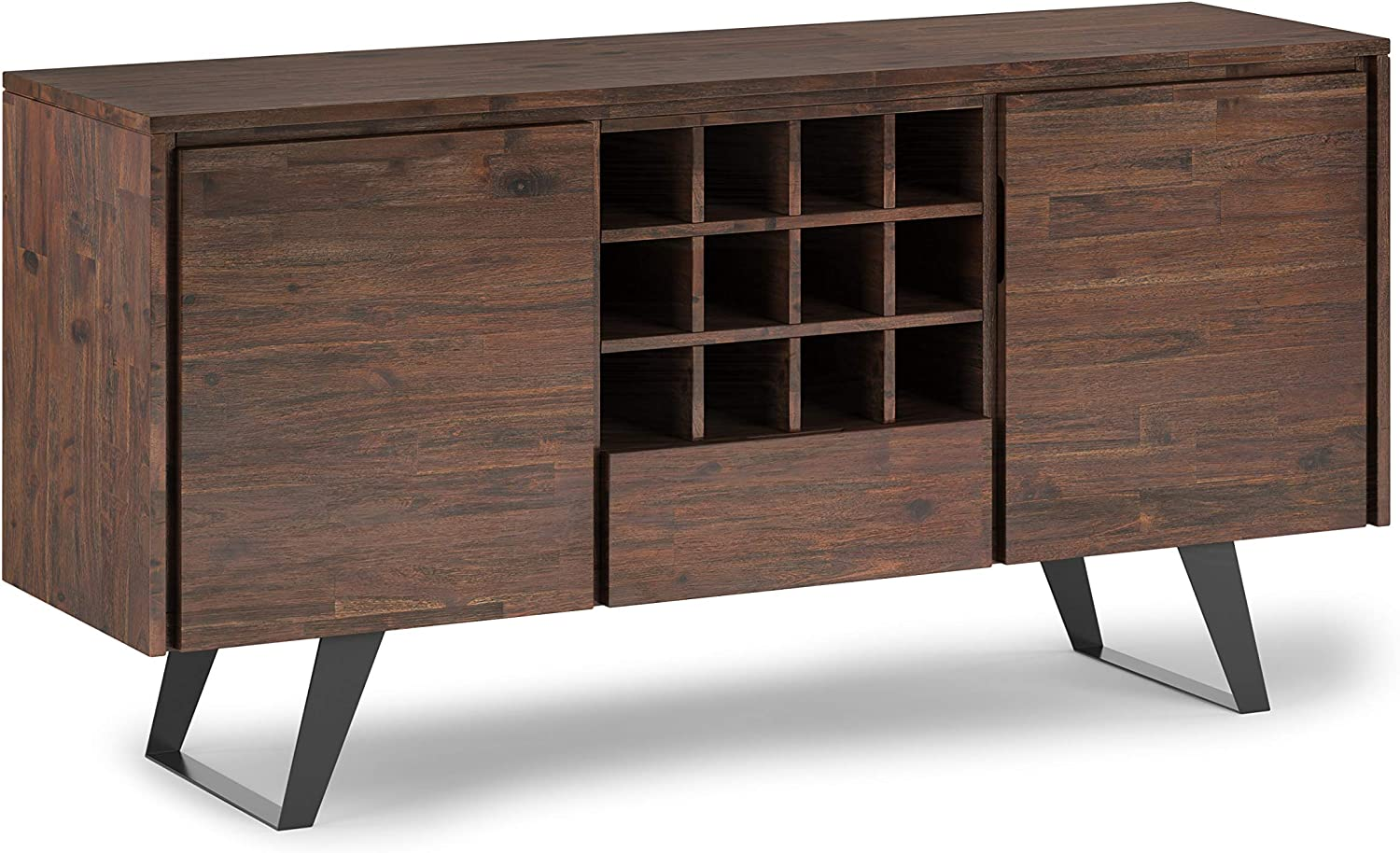 SIMPLIHOME Lowry SOLID ACACIA WOOD Industria Modern inch Wide 定番の人気シリーズPOINT ポイント 入荷 60 正規激安