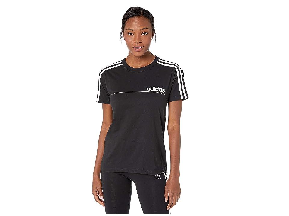 adidas Oversized Line Tee (Black) Women