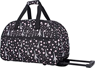 Betsey Johnson Designer Carry On Luggage Collection – Lightweight Pattern 22 Inch..