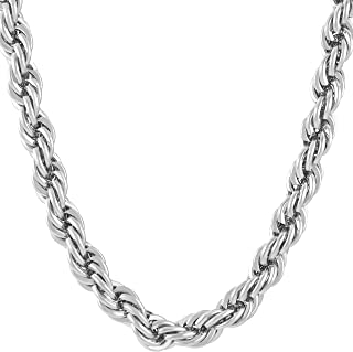 Gold Chain for Men and Women [ 7mm Rope Chain ] 20X More 24k Real Gold Plating Than Other Gold Chains - Durable Mens Necklace with Free Lifetime Replacement Guarantee 16 to 36 inches