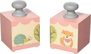 Tree by Kerri Lee Bookend Blocks, Fox/Hedgehog
