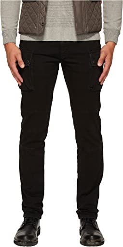 BELSTAFF - Westward Tapered Garment Dyed Denim with Cargo Pockets in Black