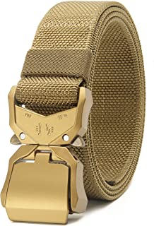 """Chaoren Mens Quick Release Tactical Belt 1.5"""", Casual Military Riggers Work Belts for Men - Multi - Large"""