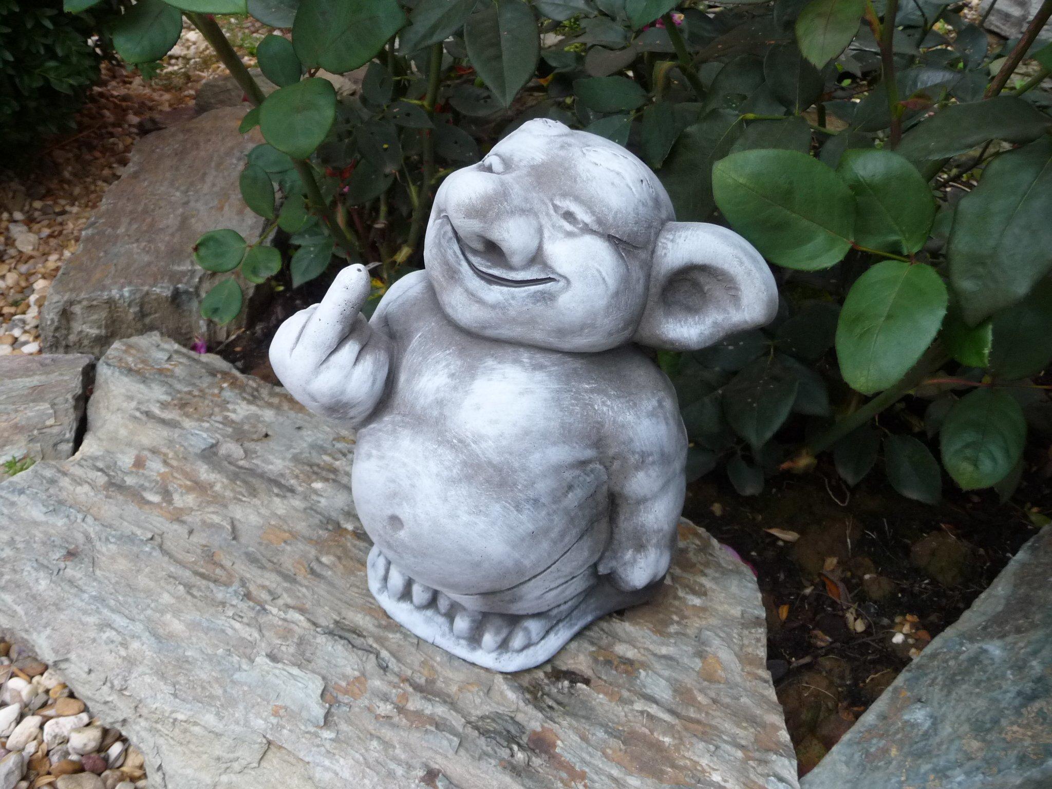 piedra Figura TROLL gnomo Jardín figuras para decoración del jardín estanque Fantasía Figura Figura de piedra Figura TROLL gnomo figuras para jardín decoración de jardín Fantasía piedra figuras: Amazon.es: Jardín