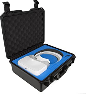 Ultimaxx Waterproof Rugged Compact Storage Hard Carrying Case for DJI FPV VR Goggles and Additional Accessories