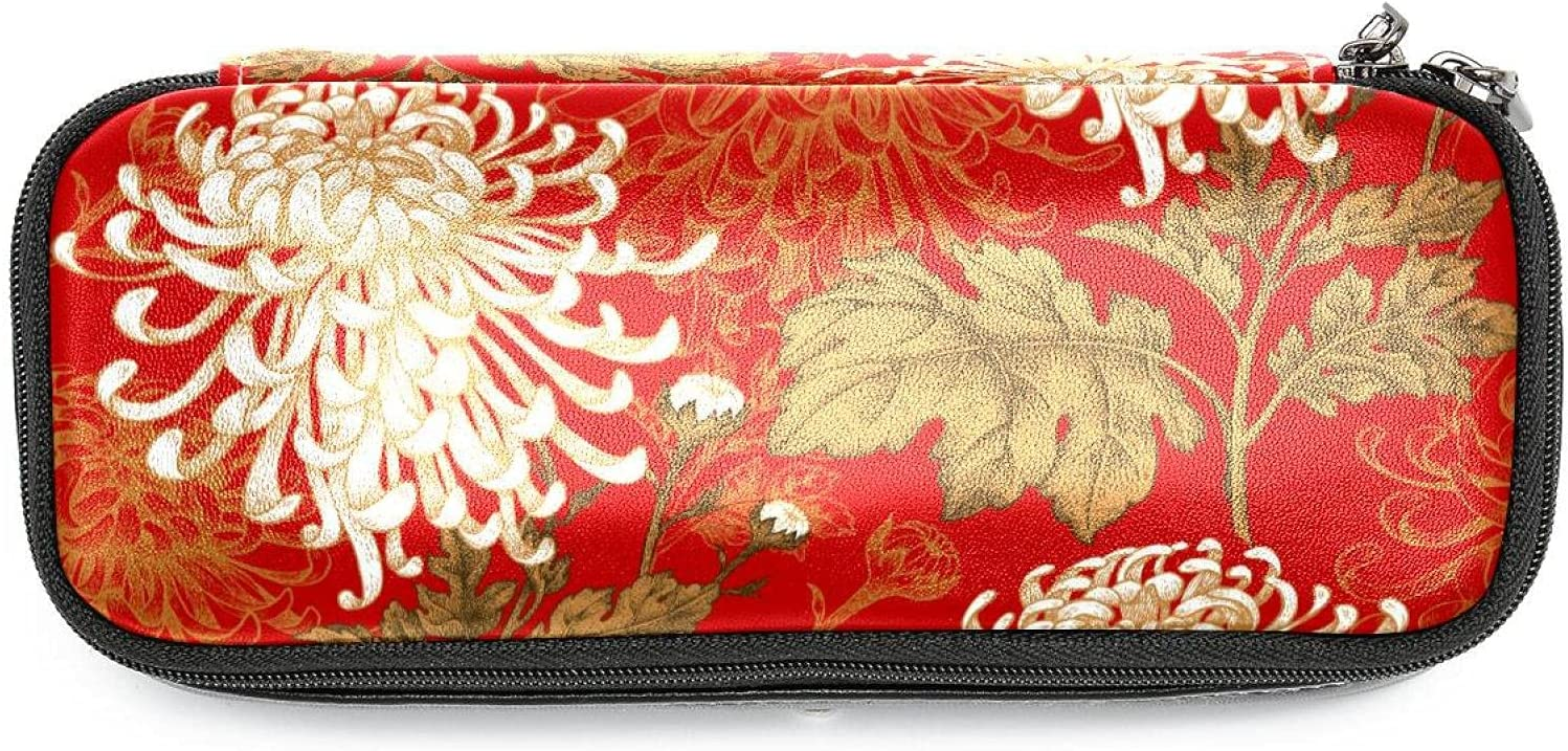 Pen Pencil Case Popular shop is the lowest price challenge Stationery Pouch Fresno Mall Red Bag Cosmetic Bags Chin