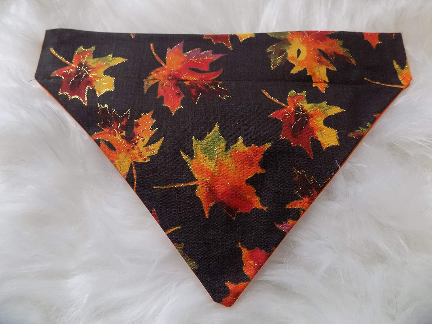 Fall Rustic Maple Leaves Over the Bandana Slips Cheap mail order specialty Max 54% OFF store Dog That Collar