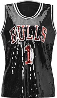 Women's Sequins Basketball Tank Vests