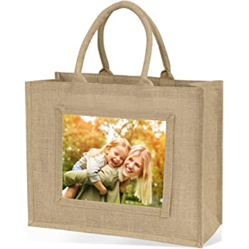 Bolsa de yute bolsa de la compra (tamaño grande), color natural ...