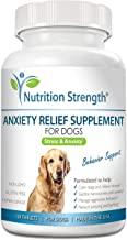 Nutrition Strength Dog Anxiety Relief Supplement, Formula with Valerian Root, Chamomile & L-Tryptophan for Stressed Dog Su...