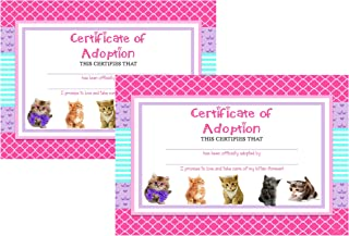 Silly Goose Gifts Glam Kitty Cat Pet Adoption Party Supply Theme (Adoption Certificate)