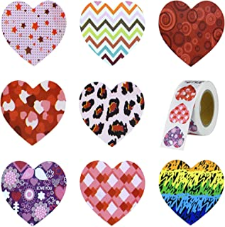 500 Pieces Valentine's Day Heart Roll Stickers Labels Love Decorations for Valentines Day Decor Wedding Party Favor Engage...