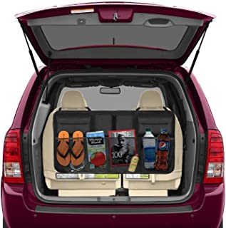 Beepzoo - Organizador para asiento trasero de coche, accesorios de carga, ahorro de espacio, resistente, se adapta a todoterrenos, con tapa inferior