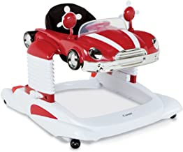 Combi Baby Activity Walker - All-in-One Mobile Activity Center, Entertainer, and Snack Tray - Bounce, Drive and Play, RED