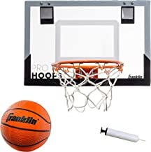 Franklin Sports Over The Door Mini Basketball Hoop - Slam Dunk Approved - Shatter Resistant - Accessories Included (Renewed)