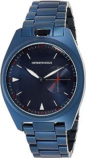ساعة معصم للرجال من امبوريو ارماني، لون ازرق