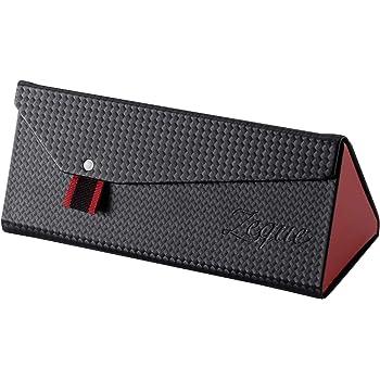 Zeque(ゼクー) サングラスケース 折り畳み式 AS-034 ブラック&レッド