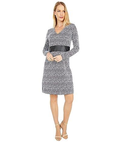 MICHAEL Michael Kors Jaquard Fit-and-Flare V-Neck Dress Women