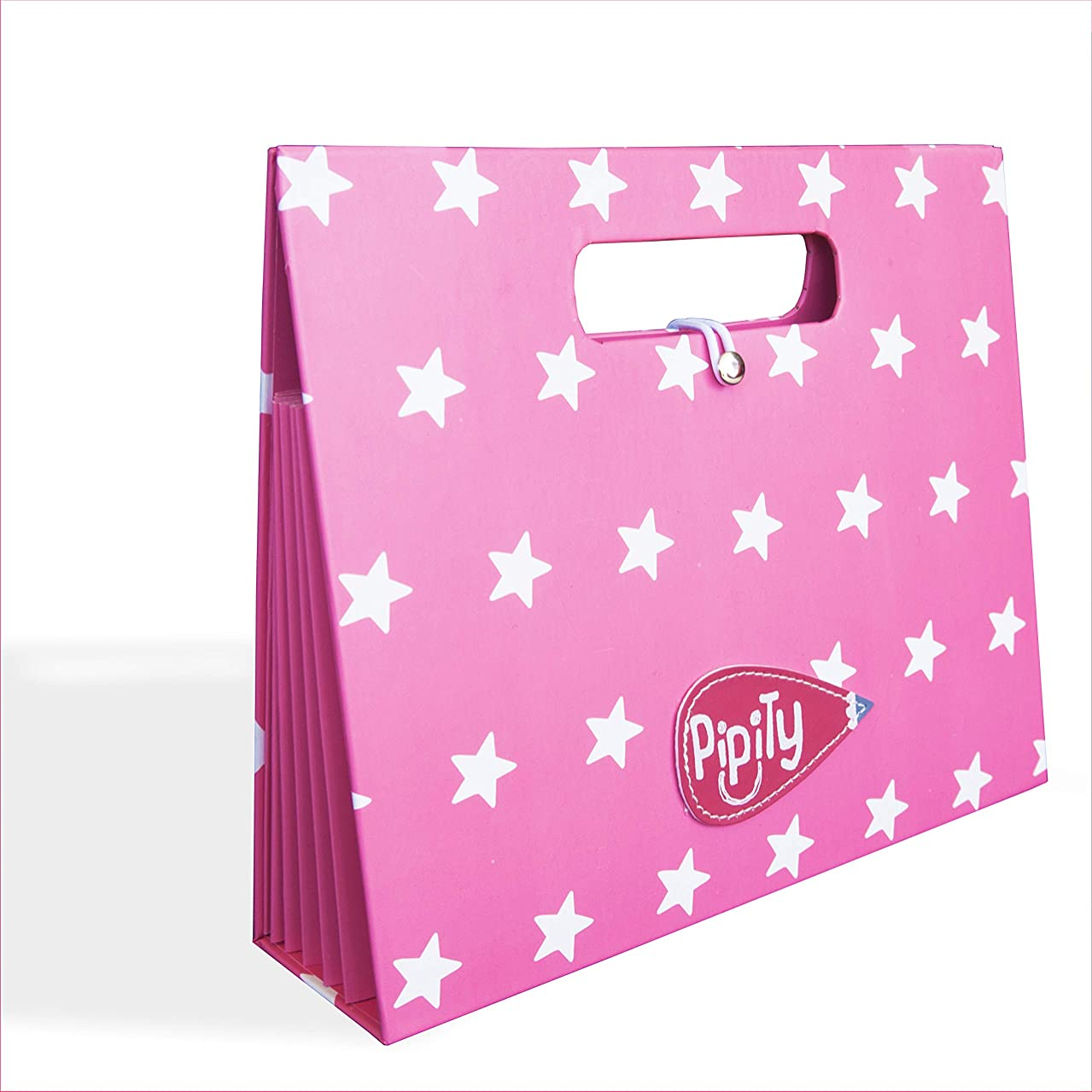Pipity Portfolio for Artwork Storage. Expandable Folder Makes a Great Art Case for Kids Creative Keepsake Projects. Portfolios Make Perfect Presents for a Busy Artist. Girls and Boys Age 6+. Pink A5