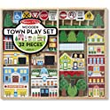 Melissa & Doug Wooden Town Play Set (32 Pieces)