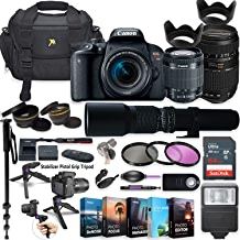 $849 Get Canon EOS Rebel T7i DSLR Camera with 18-55mm Lens, Tamron 70-300mm & 500mm Preset Lens + 5 Photo/Video Editing Software Package & Professional Accessory Kit