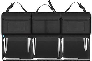 wuwenjun Borsa portaoggetti in Pelle PU Nera per Auto Tasca applicata Borsa portaoggetti per Carte di detriti per Cellulare Accessori per Mercedes Smart 453 Fortwo Forfour