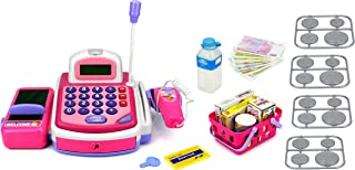 Velocity Toys KX My First Cash Register Pretend Play Battery Operated Toy Cash Register w/ Working Scanning Action, Calcul...