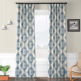 HPD HALF PRICE DRAPES BOCH-KC27C-96 Henna Blackout Room Darkening Curtain 50 X 96,Henna Blue