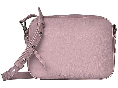 AllSaints Captain Leather SQ Crossbody (Lavender) Handbags