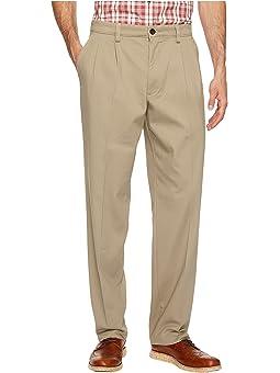 Dockers Mens Classic Fit Easy Khaki Pleated Pants