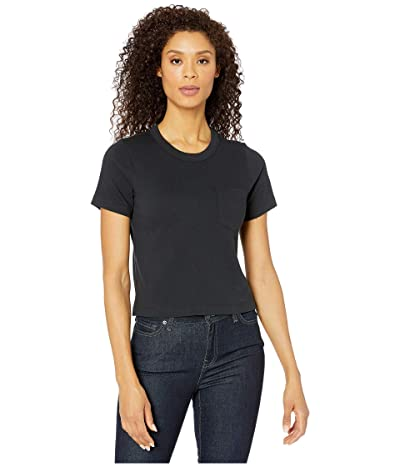 Alternative Heavyweight Recycled Cotton Cropped Pocket Tee (Black) Women