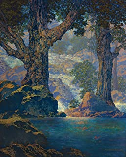 Berkin Arts Maxfield Parrish Giclee Canvas Print Paintings Poster Reproduction(Cascades)