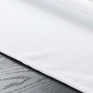 Elibone All Kinds of Cotton and Linen Solid Color Waterproof Tablecloth Wholesale Direct Sales Tablecloth Wedding Party Decoration,White,4060cm